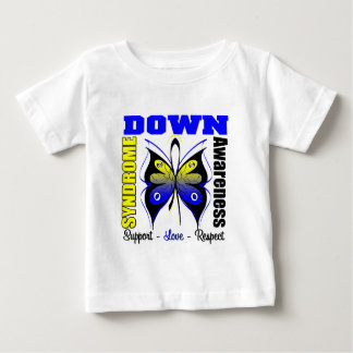 Down Syndrome Awareness Butterfly Baby T-Shirt