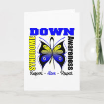 Down Syndrome Awareness Butterfly Card