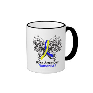 Down Syndrome Awareness Butterfly Ringer Coffee Mug