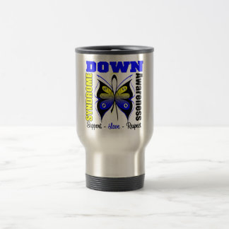 Down Syndrome Awareness Butterfly 15 Oz Stainless Steel Travel Mug