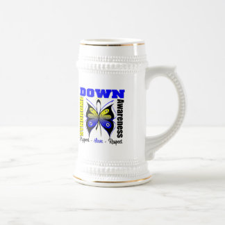 Down Syndrome Awareness Butterfly 18 Oz Beer Stein