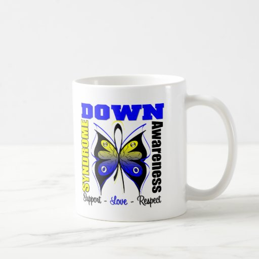 Down Syndrome Awareness Butterfly Classic White Coffee Mug