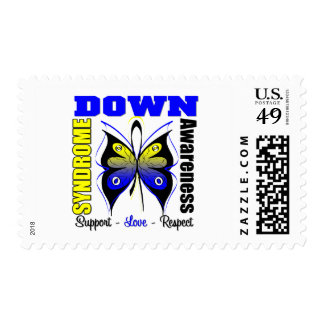 Down Syndrome Awareness Butterfly Postage Stamp