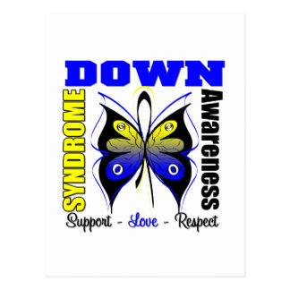 Down Syndrome Awareness Butterfly Postcard