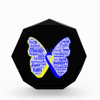 Down Syndrome Awareness Butterfly Ribbon Acrylic Award