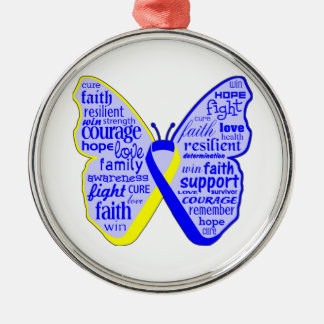 Down Syndrome Awareness Butterfly Ribbon Ornaments