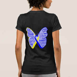 Down Syndrome Awareness Butterfly Ribbon Tshirts