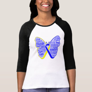 Down Syndrome Awareness Butterfly Ribbon Shirts