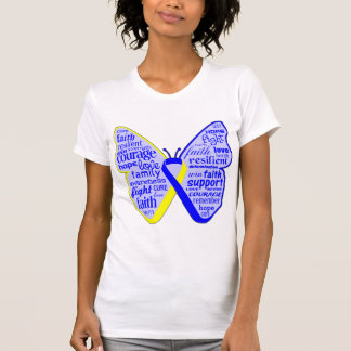 Down Syndrome Awareness Butterfly Ribbon Tshirt