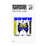 Down Syndrome Awareness Butterfly Stamp