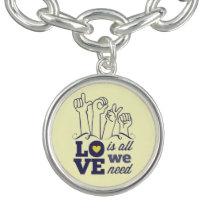 Down syndrome Awareness Charm Bracelet