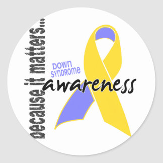 Down Syndrome Awareness Classic Round Sticker