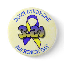 Down Syndrome Awareness Day 3.21 Ribbon Button