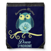 Down syndrome awareness drawstring bag