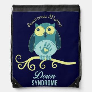 Down syndrome awareness drawstring bag