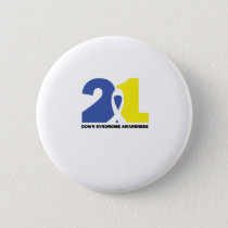 DOWN SYNDROME AWARENESS Fight Gift Pinback Button