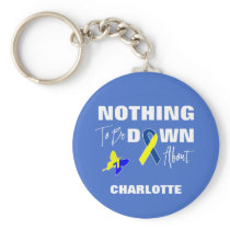 Down Syndrome Awareness Fun Personalized Keychain