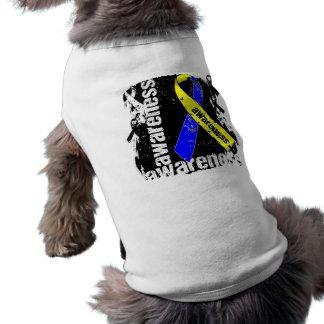 Down Syndrome Awareness Grunge Ribbon Doggie T Shirt