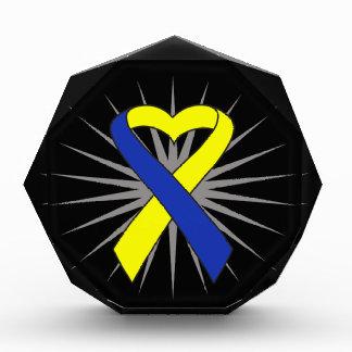Down Syndrome Awareness Heart Ribbon Awards