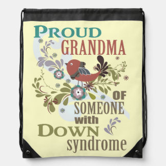 Down syndrome awareness cinch bags