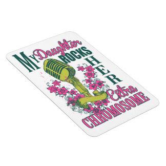 Down syndrome awareness rectangular photo magnet