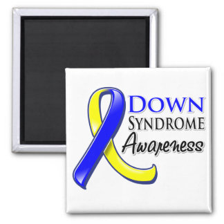 Down Syndrome Awareness Ribbon 2 Inch Square Magnet
