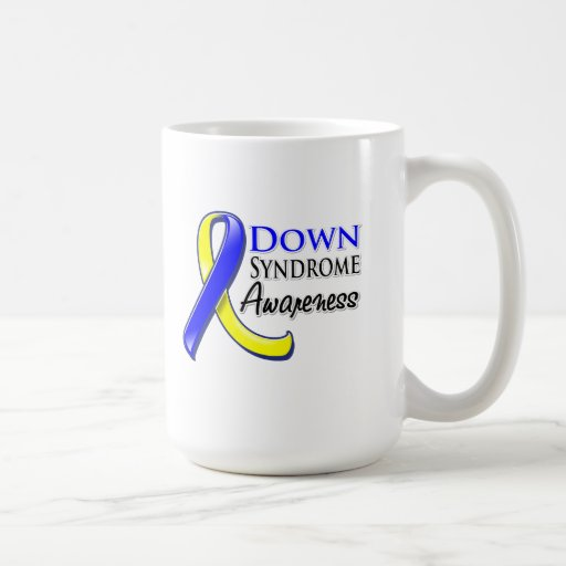 Down Syndrome Awareness Ribbon Classic White Coffee Mug