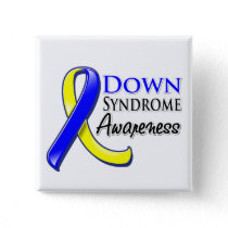 Down Syndrome Awareness Ribbon Pinback Button
