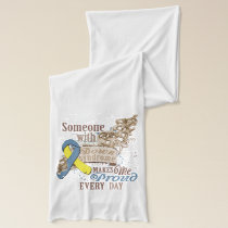 Down syndrome awareness scarf