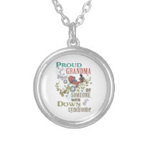 Down syndrome awareness silver plated necklace