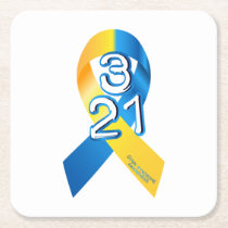 Down Syndrome Awareness Square Paper Coaster