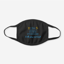 "Down Syndrome Awareness ""Stars and Back"" Reusable Black Cotton Face Mask"