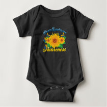Down Syndrome Awareness Sunflower Butterfly Gift Baby Bodysuit