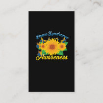 Down Syndrome Awareness Sunflower Butterfly Gift Business Card