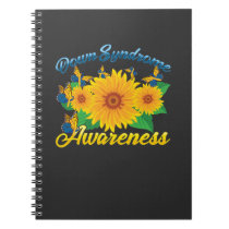 Down Syndrome Awareness Sunflower Butterfly Gift Notebook