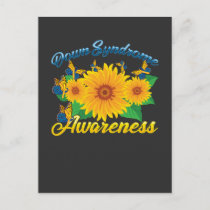 Down Syndrome Awareness Sunflower Butterfly Gift Postcard