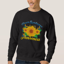 Down Syndrome Awareness Sunflower Butterfly Gift Sweatshirt