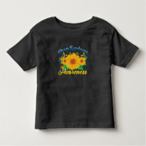 Down Syndrome Awareness Sunflower Butterfly Gift Toddler T-shirt