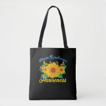 Down Syndrome Awareness Sunflower Butterfly Gift Tote Bag