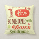 Down syndrome awareness throw pillow