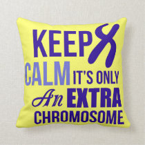 Down syndrome awareness throw pillow