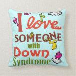 Down syndrome awareness throw pillows