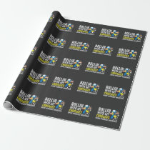 Down Syndrome Awareness Trisomy T21 Handicap Wrapping Paper