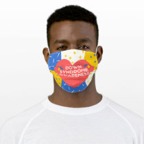 Down Syndrome Awareness with Heart Face Mask
