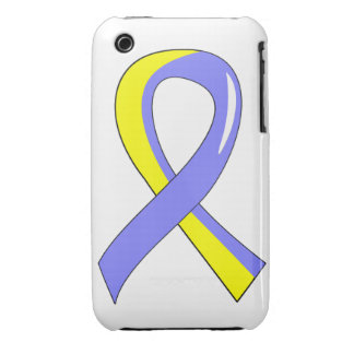 Down Syndrome Blue Yellow Ribbon 3 iPhone 3 Cover