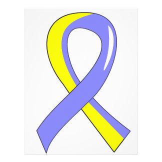 Down Syndrome Blue Yellow Ribbon 3 Flyer