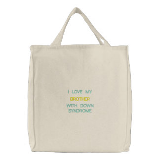 Down Syndrome - Brother - Custom Embroidered Bag