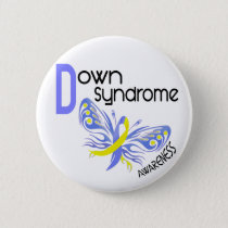 Down Syndrome BUTTERFLY 3.1 Button