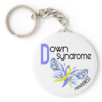Down Syndrome BUTTERFLY 3.1 Keychain
