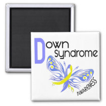 Down Syndrome BUTTERFLY 3.1 Magnet